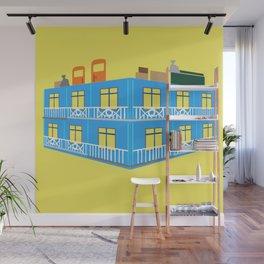 blue house Wall Mural