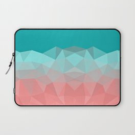 Crystal fantasy background mint and coral color Laptop Sleeve