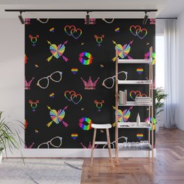 LGBTQ icons pattern Wall Mural