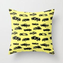 Classic Cars // Yellow Throw Pillow
