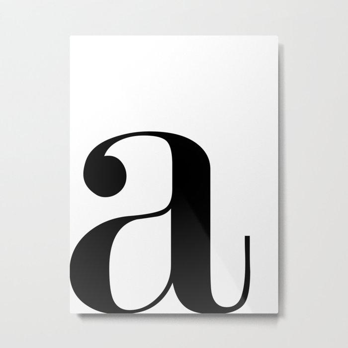 "Monogram Series Letter ""a""  Metal Print"