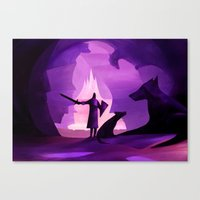 guardians Canvas Prints featuring Guardians by Fantasticvolk's Magical World