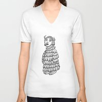 siren V-neck T-shirts featuring siren  by Hana moine