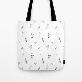 Little botanics pastel pattern Tote Bag