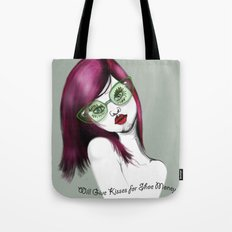 Will Give Kisses for Shoe Money Tote Bag