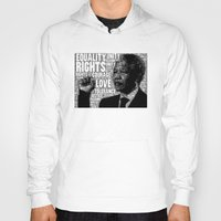 mandela Hoodies featuring Mandela tribute by WAMTEES