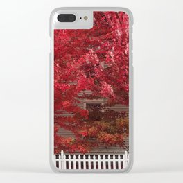 Autumn in Hudson Clear iPhone Case