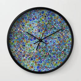 Wild Flowers Abstract Wall Clock