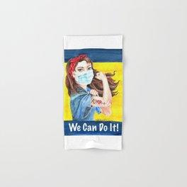 We Can Do It! inspirational nurse art Hand & Bath Towel