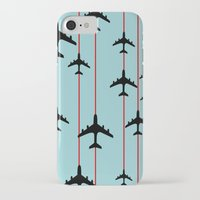 planes iPhone & iPod Cases featuring Planes by Frances Roughton