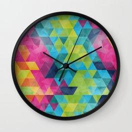 Fragmented folds Wall Clock