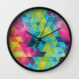 Fragmented folds Wall Clock