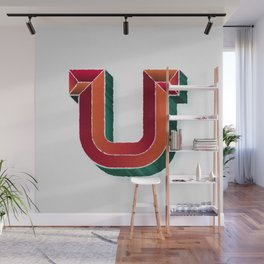 The Letter U Wall Mural