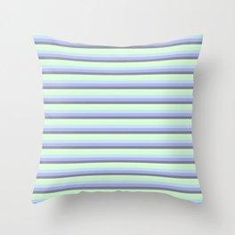 Pastel Blue Gray Seafoam stripeS. Throw Pillow