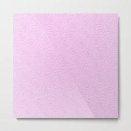 Lilac-pink texture . Roses Metal Print