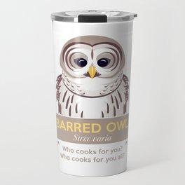 Cry of the Barred Owl Travel Mug