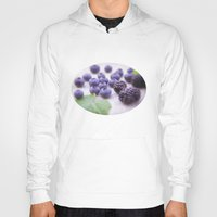 fruits Hoodies featuring Blue Fruits by Tanja Riedel