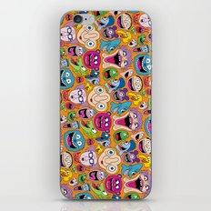 Creepy Smiles Pattern iPhone & iPod Skin