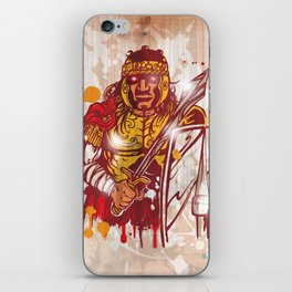 roman warrior hand draw iPhone Skin