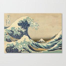 The Great Wave - Katsushika Hokusai Canvas Print