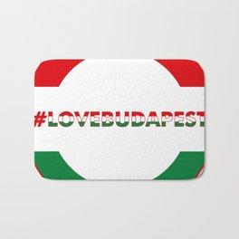 Hashtag Love Budapest, circle, color Bath Mat