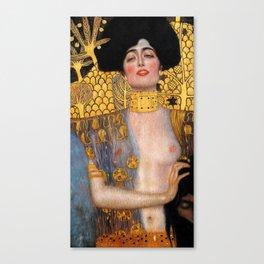 "Judith and the Head of Holofernes Gustav Klimt "" Judith 1 "" Canvas Print"