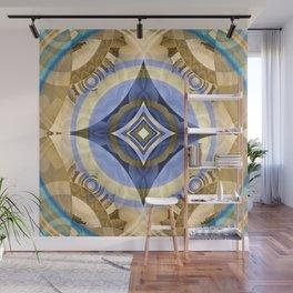 Elegant Meditation Diamond Mandala Wall Mural