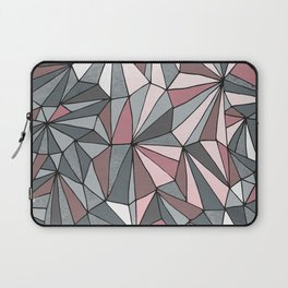Urban Geometric Pattern on Concrete - Dark grey and pink Laptop Sleeve