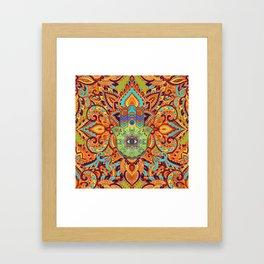 Colorful  Hamsa Hand -  Hand of Fatima Framed Art Print