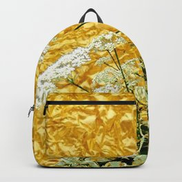 GOLDEN LACE FLOWERS FROM SOCIETY6 BY SHARLESART. Backpack