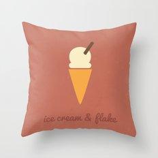 Sweet Tooth - Ice Cream & Flake Throw Pillow