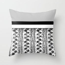 Colorblock Leaves Throw Pillow