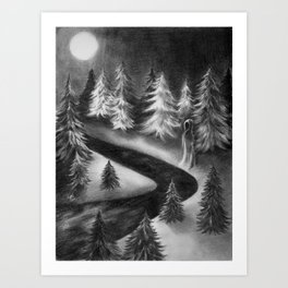 Winter Ghost Art Print