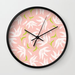 lightpinkflower Wall Clock