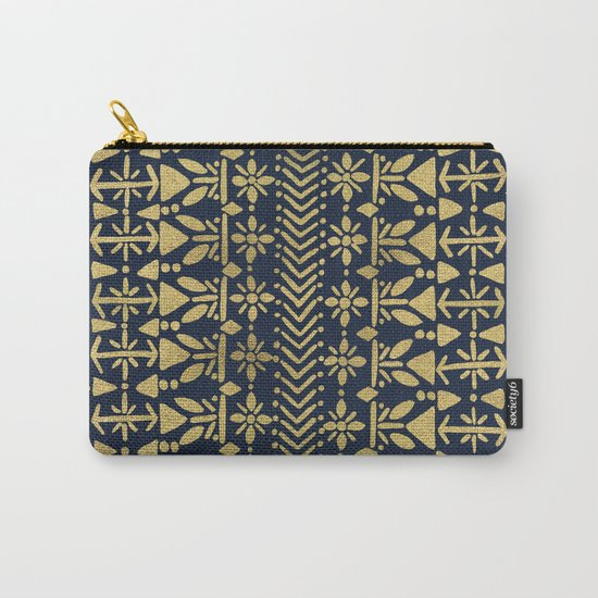 Norwegian Pattern – Gold on Navy Carry-All Pouch
