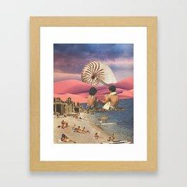Shell Beach Framed Art Print