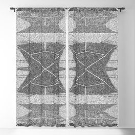 BW pixalated Blackout Curtain