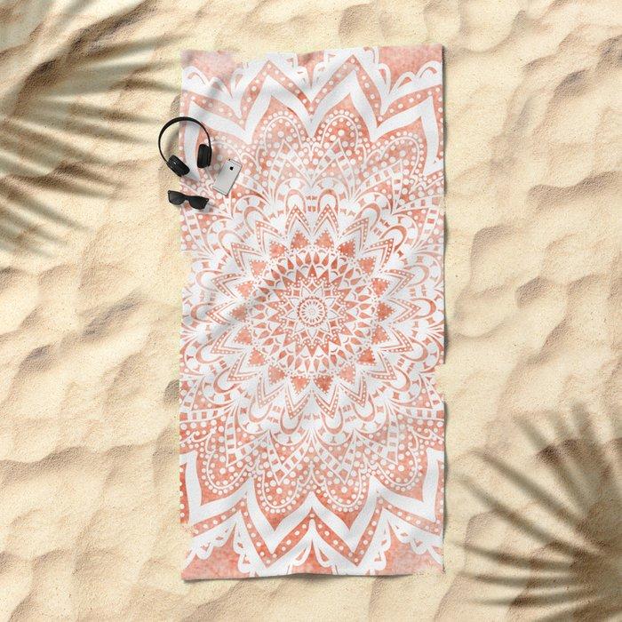 MANDALA SAVANAH Beach Towel