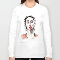instagram Long Sleeve T-shirts featuring Instagram 1 by artistathenawhite