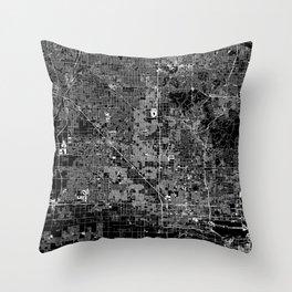 Phoenix Black Map Throw Pillow