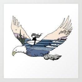 """ Flying High "" Art Print"