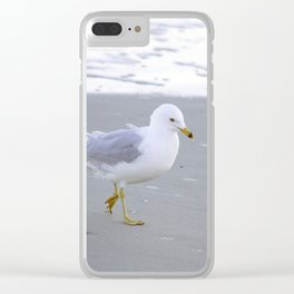 Sea Gull Stroll Clear iPhone Case