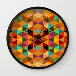 Middle Triangles Wall Clock