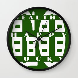 Healthy Go Happy Go Lucky Wall Clock