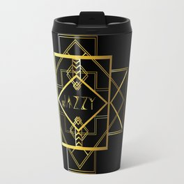 Jazzy Letterform and Pattern Travel Mug