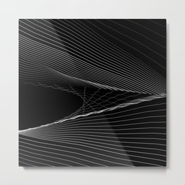 SNGLRTY BLK Metal Print