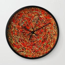 Jackson Pollock digitally reworked Wall Clock