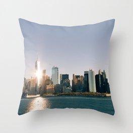 Morning over Manhattan Throw Pillow