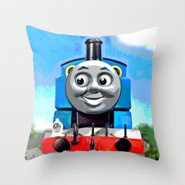 Thomas Has A Smile Throw Pillow