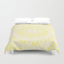 Lemon Yellow Kaleidoscope Duvet Cover